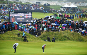 There were vast crowds at Portrush for the Open despite the weather.