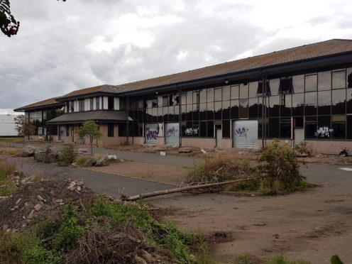 The derelict office building in Luna Place at the Dundee Technology Park.