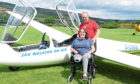 The Wilkinson family at the Scottish Gliding Centre.