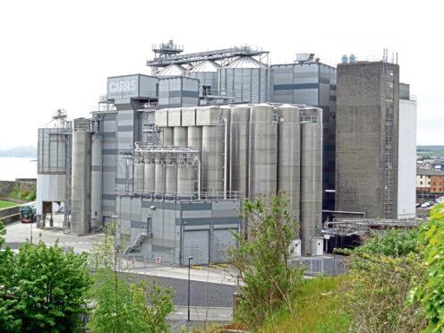 Carr's Flour Mills' factory in Kirkcaldy.