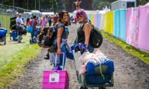 Campers at Rewind 2019 at Scone Palace.