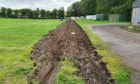 A trench has been dug to prevent the Travellers encroaching further onto the farmland at Balwyllo.