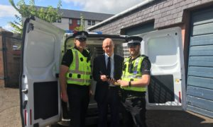 John Swinney MSP met with officers at Blairgowrie police station on Friday.