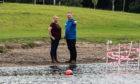 Lochore Country Park manager Ian Laing and local councillor Lea McLellan.
