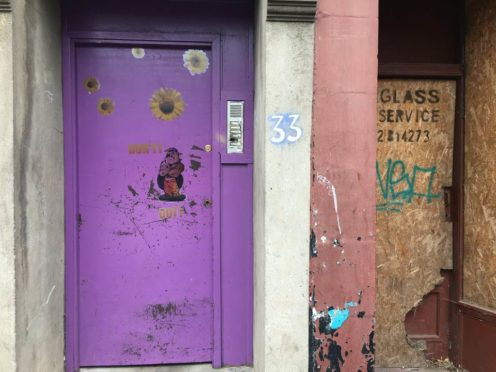 Number 33 on Dundonald Street is said to be the worst-affected by anti-social behaviour.