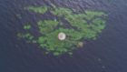 Drone pilot David Brown captured the seagull's eye view of the Bell Rock lighthouse,