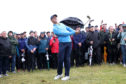 Rory McIlroy was the centre of attention at least for a while in practice at Portrush yesterday.