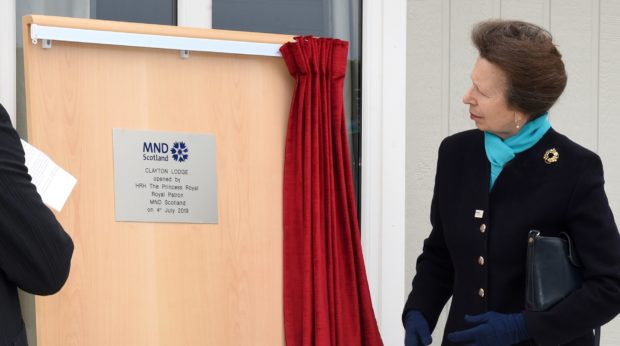 The Princess Royal unveils a plaque