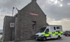An ambulance was seen parked outside Broughty Ferry lifeboat station on Thursday