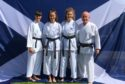 Niamh Conway, Carrie-Anne Taylor, Samantha Barlow with instructor Kevin Scott