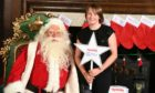 Katie meets Santa