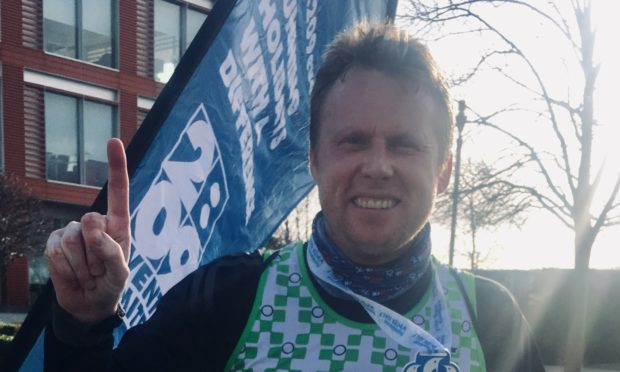 Forfar runner cuts a dash in his kilt for charity - The Courier