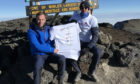 Andrew, 25, and Callum Donaldson,21, on Mount Kilimanjaro