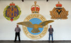 Artist Peter Hill and MIke Samson have recently completed a 15 foot mural at the centre depicting the RAF and the badges of the Royal Flying Corps (RFC) Montrose and Royal Naval Air Service (RNAS).