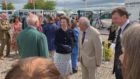 Princess Anne opening the new Highland Pony Society Headquarters at Aberuthven, Perthshire.
