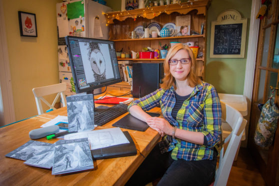 Fife illustrator Julie Campbell has created a comic set in Markinch.