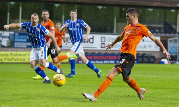 Action from the game.
