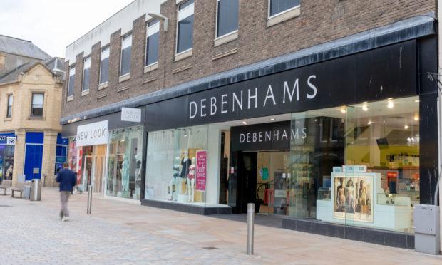 Debenhams Kirkcaldy High Street.