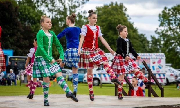 Highland dancers enjoyed the event