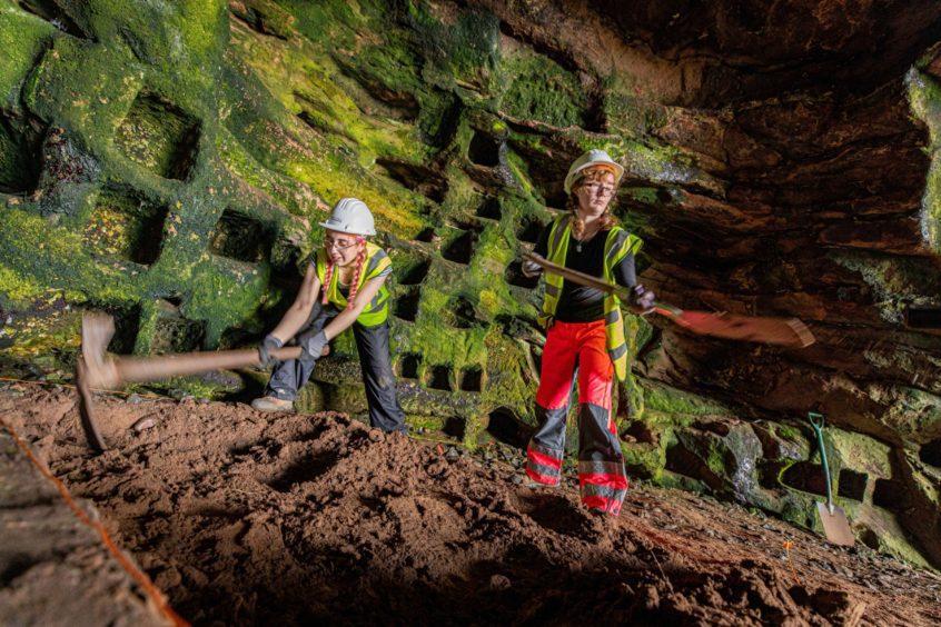 Excavation work begins. Pictures by Steve Brown.
