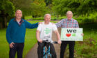 L-R  Brian Robertson and Duncan Mitchell from FEAT, with; Bob Young, Trustee CRT Scotland.
