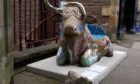 Damaged mosaic Highland cow targeted by vandals in Crieff