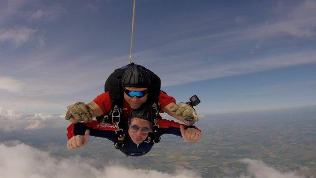Mr Letford flying high.