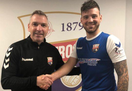 Stewart Petrie with Kerr Waddell.