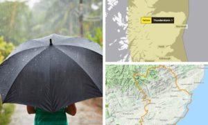 Heavy rain and thunderstorms are expected to bring flooding to Courier country.