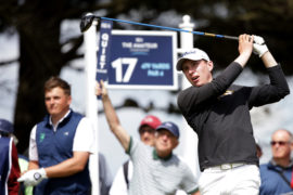 Euan Walker playing in the Amateur final in June.
