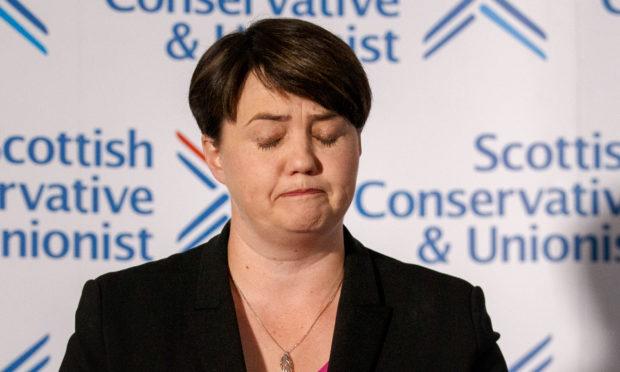 Ruth Davidson addresses the media during her resignation speech at The Macdonald Hotel, Edinburgh.