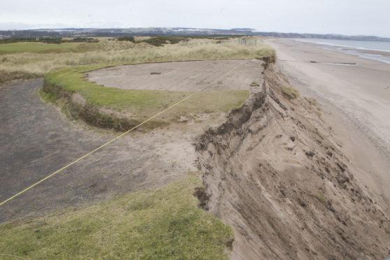 Previous coastal erosion at Montrose beach.