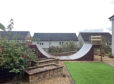 Ross Salitura erected the halfpipe ramp in the back garden of his Fife home and regularly practises his skills.