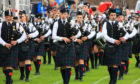 One of the Bands at Crief Highland Gathering- Morrisons Academy