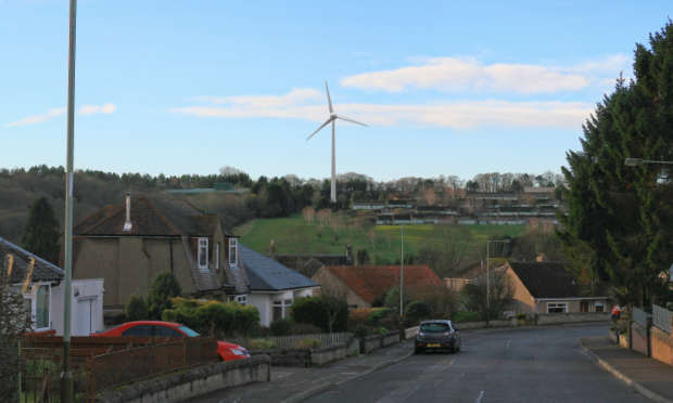 The view of the proposed turbine from outside Viewlands Primary School.