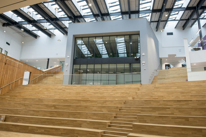 The new school assembly hall.