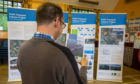 The first of four public exhibition on the Cross Tay Link Road where local residents were able to inspect the plans and ask questions of the planners.