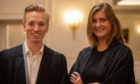 Oliver Adkins and Ruth Nicholls, of Churchill Gowns, have won Dragon investment.