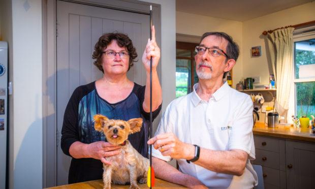 Joe, Pauline and dog Keira.