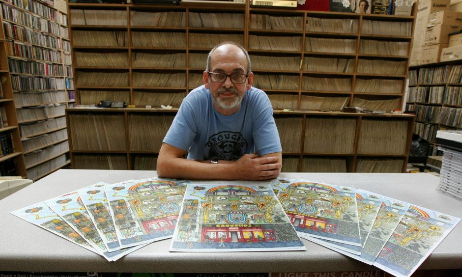 Alastair poses for a photo which was included alongside a story marking the 40th anniversary of Groucho's in August 2016.