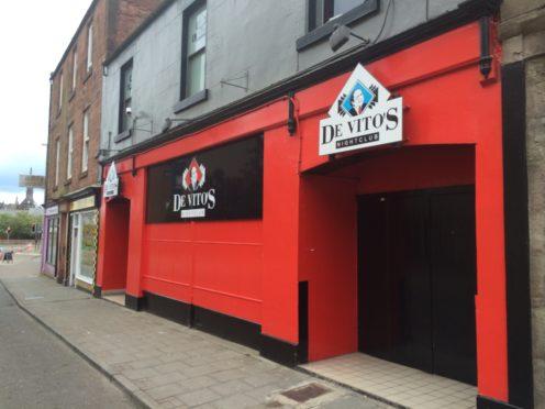 The attack happened at De Vito's nightclub