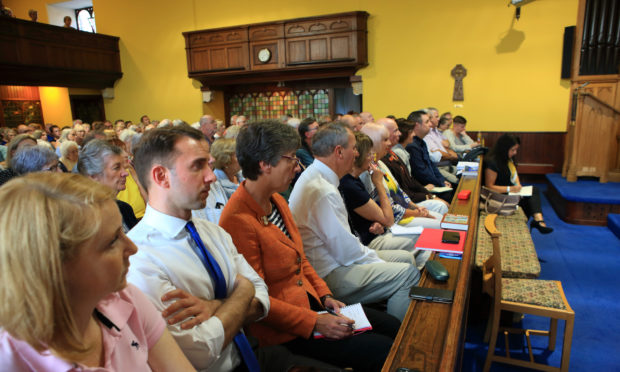Luke Graham MP was amongst the worried crowd quizzing NHS Tayside bosses on Monday night.