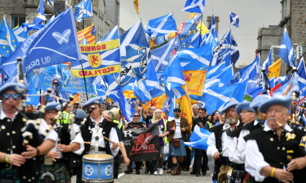 AUOB held a similar march in Aberdeen this month.
