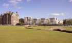 How the new houses behind the Swilcan Bridge would look, as designed by Sutherland Hussey Harris.