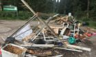Fly-tipping at Taymount Wood