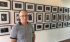 David at his exhibition