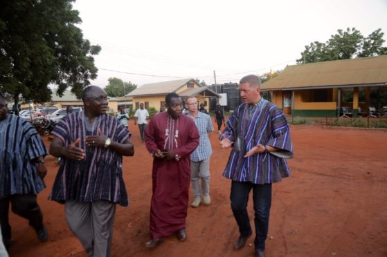 Iain (right) with medical professionals at the Tamale Central Hospital.