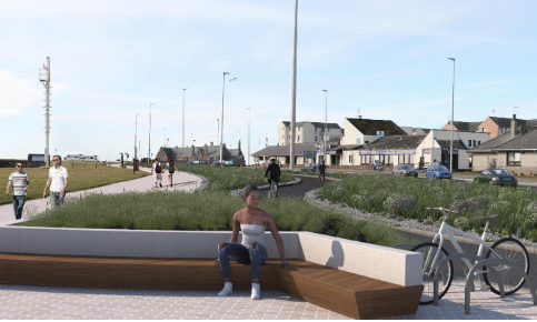 An artist's impression of the new-look Ladyloan under the Arbroath sustainable transport scheme.