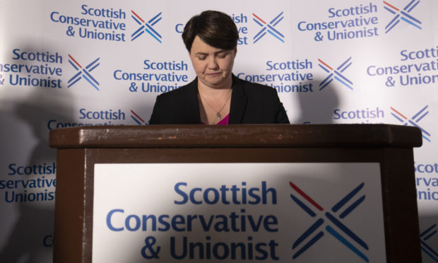 Leader of the Scottish Conservatives Ruth Davidson during a press conference at Holyrood Hotel in Edinburgh, following her announcement that she has resigned as leader of the Scottish Conservatives.