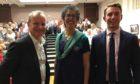 Pete Wishart, Luke Graham and Rachel Weiss